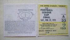 1971 League Cup Final Ticket Aston Villa v Tottenham Hotspur in Mint condition.