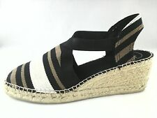 TONI PONS Womens SANDALS TARBES ESPADRILLES Shoes Striped Black Tan US 9 EU 40