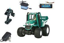 Tamiya 1:10 RC Farm King Bausatz Wheelie Traktor RTR KIT Servo, Funke, Akku