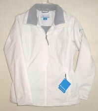 NEW $100 COLUMBIA White MANY PATHS II Water Resistant JACKET coat WOMENS S Small