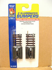 LIFE LIKE ILLUMINATED TRAIN TRACK BUMPERS NEW NOS - Package of 2 HO SCALE NOC