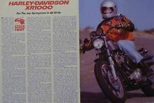 HARLEY-DAVIDSON XR1000 Motorcycle Test Article 1983  XR-1000 XR 1000