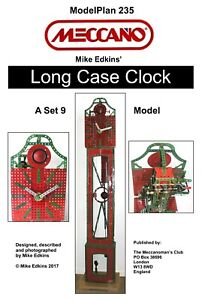 Meccano Model Plan - Long Case Clock