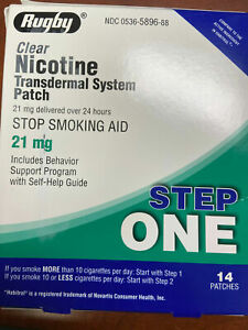 Rugby Nicotine Transdermal System Patch 21mg Step 1 Stop Smoking Patch