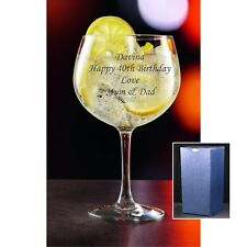 Personalised Engraved Juniper Gin Glass 24 oz Birthday Gift  18th, 21st, 30th