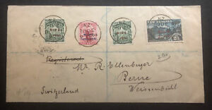 Rare Niue 1904 Commercial Registered Cover to Switzerland