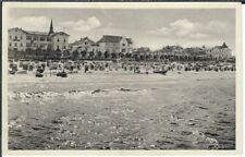 Ansichtskarte Ostseebad Binz/Rügen- Strandpartie mit Strandkörben - schwarz/weiß