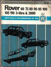 Rover P4 P5 P6 60 75 80 90 95 100 105 110 3 Litre & 2000 Pearsons Car Servicing