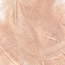 "Rose Gold Marabou Feathers Craft Decorations Mixed Sizes 3""- 8""  8 gram Pack"
