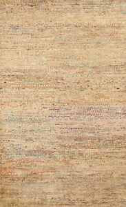 Abstract MOROCCAN Oriental Area Rug Hand-knotted Contemporary Carpet 6x9 ft
