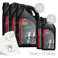 Car Engine Oil Service Kit / Pack 17 LITRES Millers CFS 10w-60 full synth 17L
