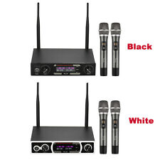 UHF Wireless Microphones Set 2 Handheld Mics for DJ Party Karaoke Meeting S9N1