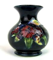 Stunning Moorcroft Orchid Squat Vase 1950's. Made in England!