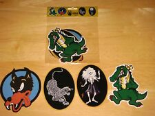 Jerry Garcia GUITAR 4 STICKER SET Wolf Tiger Rosebud Alligator NEW grateful dead