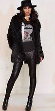 NEW Black Sequin AMUSE SOCIETY Legging Pants Holiday  Bling L NWT Charlie