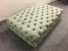 LARGE CHESTERFIELD STYLE COFFEE TABLE/STOOL 1.5M X 1M AVALIABLE IN 69 FABRICS