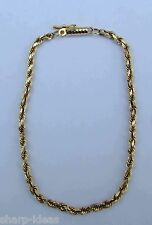 Ladies Rope Chain Bracelet  - 14K Yellow Gold - 7.25 inches
