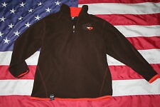 boys Pony Brown Fleece Sweatshirt Size Medium: jacket/coat/shirt/athletic #3733