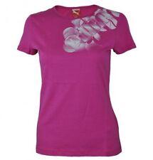 Magliette da donna rosa grafico con girocollo