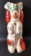 Antique Staffordshire Red & White Begging Spaniel Dog Jug Pitcher 19th Century1P