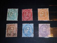 Francobolli Umberto I x 6 Stamps