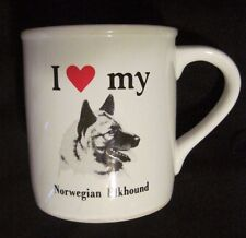 I Love My Norwegian Elkhound- Dog Coffee Mug Strand Enterprises For Papel Usa
