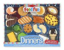 Food Play Set Chicken Corn Ice Cream Cone Cake 18 Piece Kitchen Boy Girl New