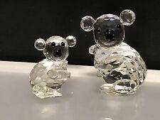Swarovski Figuren. Koala Ours Mère & Enfant État Irréprochable