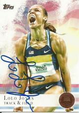 LOLO JONES 2012 TOPPS Autographed Card USA OLYMPIC TRACK