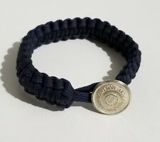 """Sterling Silver Waterbury Button """"Arzu Means Hope"""" Persian Paracord Bracelet"""