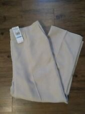 H25 NWT Alfred Dunner Plus Size 20w Beige Woven Pull On Dress Slacks $46