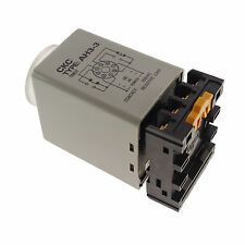 110VAC 3A Max 60m Power On Delay AH3-3 Time Relay With Socket Base  8pins