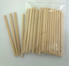 "50  X  89mm (3.5"")  LONG 4MM DIA WOODEN LOLLY POP STICKS LOLLIPOP COOKIE CRAFT"