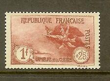 "FRANCE STAMP TIMBRE N° 231 ""ORPHELINS LA MARSEILLAISE 1F+25c CARMIN"" NEUF xx TTB"