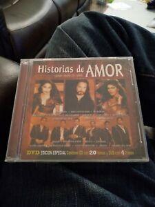 Historias De Amor 2004 CD DVD Marco Antonio Solis Los Bukis Bronco Mojado