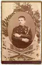 Militaire Vintage albumen print Tirage albuminé  11x16  Circa 1890  <d
