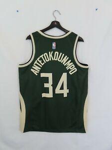 NWT Men's Giannis Antetokounmpo Milwaukee Bucks Nike Earned Edition Jersey (Lrg)