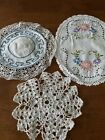 Vintage+Crochet+and+Embroidered+Doilies+-+3+pieces+-+Lancaster+County+Pa