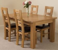Up to 4 Seats Oak Dining Tables Sets with Extending