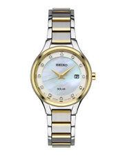 Seiko Women's Solar Diamond Dial Two Tone Stainless Steel Watch SUT318