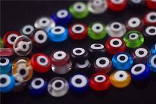 Bulk 50pcs Glass Eyes Design Millefiori Beads Spacer Jewelry Making 10mm Charms