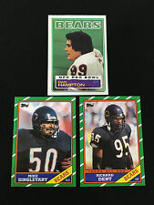CHICAGO BEARS DEFENSE 80'S DAN HAMPTON, SINGLETARY, DENT TOPPS FOOTBALL CARDS