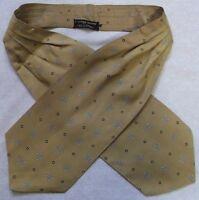 Ascot Cravat Tootal Vintage Mens 1960s 1970s MOD Retro DARK GOLD