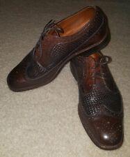 Allen Edmonds Brown Weave Leiden Leather Cap-Toe Shoes Men's 7 D $425