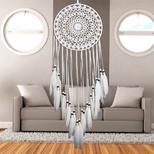 Large Dream Catcher Wall Hanging Feather Big For Kids Adults Boho White