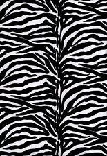 Fabric Zebra print suede 100% poly 1 yard 46