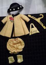 Vintage 1954-56 Vogue Ginny Yellow w/ Black Trim Coat Bloomers, Socks, Headband