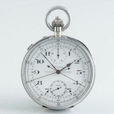 Ulysse Nadine chronometer Schleppzeiger Chronograph 15-Min Zähler 1939 Stahl