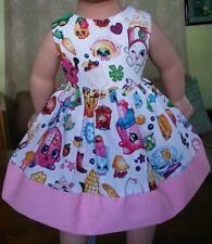 Handmade Clothes/American Girl Dolls/18 Inches/Shopkins Dress.