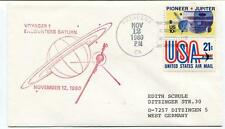 1980 Voyager 1 Encounter Saturn Pasadena Pioneer Jupiter United States Air Mail